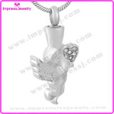 Cremation Necklaces for Ashes Angle Pendent with Heart Crystals Ijd9730
