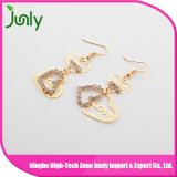 Hanging Thread Earrings Double Heart Latest Fashion Earrings