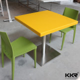 Artificial Stone Marble Yellow Square Dining Table