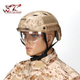 Tactical Nvg Mount Side Rail Bj Military Helmet with Clear Visor