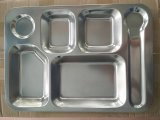 Food Grade Stainless Steel Mess Tray /Fast Food Tray
