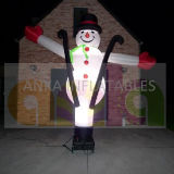 Outdoor Inflatable Light Christmas Snowman Air Dancer for Celebration