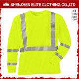 Customised Safety Wear Reflective Work Uniform T Shirt (ELTSPSI-25)