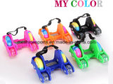 2017 New Colorful Adjustable 4 Wheel PU Flashing Roller Skate for Kids&Adults