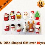 Christmas Promotion Gifts PVC USB Flash Stick (YT-Santa)