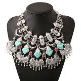 Fashion Retro Turquoise Tassel Collar Choker Necklace Jewelry