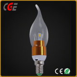 2700K Warm White LED 5W LED Candle Bulb with Ce RoHS Certifications
