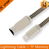 Microsd Card Reader + Lightning USB Data Cable for iPhone iPad iPod Touch (YT-RC001)