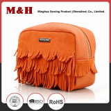 Fashion Ladies PU&Leather Pure Color Travel Cosmetic Bag