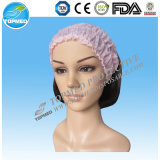 Disposable Fascia Four Pink Lines for Massage, SPA Hair Band