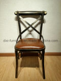 Antique Stackable Classical Cross Back Metal Chair