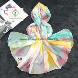 Beach Shawl Gradient Polka DOT Printed Lady Fashion Silk Scarf