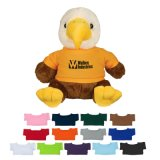 Mascot Plush Eagle Stuffed Animal in Logo Customized T-Shirt