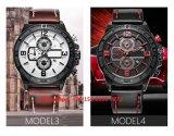 Handsome Smart Quartz Men′s Watches with Genuine Leather Strap Fs654