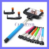 with Audio Cable Charge-Free Handheld Monopod Mobile Phone Wired Cable Take Pole Z07-7 Self Stick