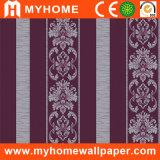 Sound-Absorbing Stripe Decorative Wall Paper (MC60807)