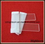 Clear Fire Polish Fused Square Quartz Glass Microscope Slides