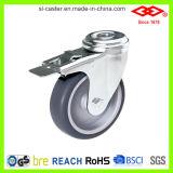 Swivel Bolt Hole Braked Instrumental Caster Wheel (G110-34B075X23S)