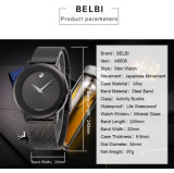 Belbi Simple Business Waterproof Steel Quartz Battery Wrist Watch for Men Gift Color Black Gold Silver 240mm Ultra-Thin Steel