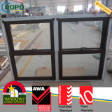 Wood Color Double Pane Sliding Glass Windows