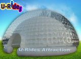 Big Transparent Camping Inflatable Bubble LED Tent Purple Inflatable Party Dome