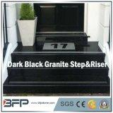 Dark Black Stone/Granite Tread/Step & Riser for Interior Flooring