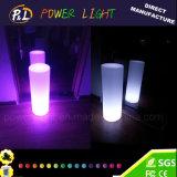 Outdoor Decoration Color Changing Plastic LED Cylinder Lamp