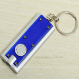 Blue Color Flashing LED Key Chain with Logo Print (3672)