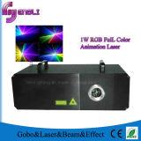 1W RGB Full Color Laser Light of Stage Lighting (HL-081)