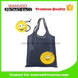 Reusable Folding Polyester Shopping Bags with Cartoon Printing
