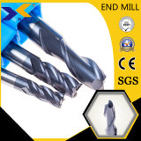 HRC45/55/60/65/68 30 Degree 45 Degree Flat Ball Nose Square Carbide Milling Cutter