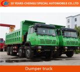 Shacman 8*4 Tiiper Truck Dump Truck with Air-Deflector