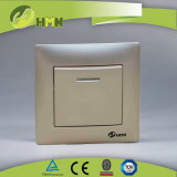 CE/TUV Certified European Standard Color Wall Switch W/N