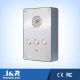 Vandal Resistant Security Telephone with Three Speed-Dialing Buttons