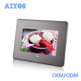 "Retail Stores 7"" Metal Frame Digital Photo Frame with Loop Play All Day Long"