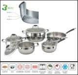 Stainless Steel Kitchenware Tri-Ply Apple Shape Cookware Set Sc569