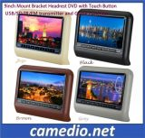 9 Inch Digital Screen Car DVD Headrest Monitor with Wireless Game, IR/FM, DVD, Speaker, USB/SD
