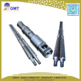 Conical Double Screw and Barrel for Plastic Pipe Sheet Extruder