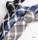 Men′s Casual Linen Stripes Necktie Jacquard Tie
