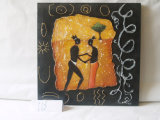 African Love Story Home Decorative Canvas Hanging Painting