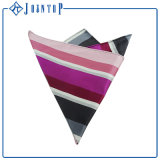 Fashion Silk Custom Pocket Square Stripes Handkerchief