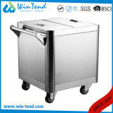 Stainless Steel Smart Hand Push Flour Trolley with Extra Handle