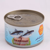 2- Piece Round Tuna Tin Cans for Fish Canning Production 185g
