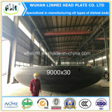 9000&30mm Large Diameter Elliptical Head Dished Ends for Oil Tanks