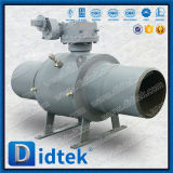 Didtek Fire Safe Fully Welded Ball Valve with Worm Gear