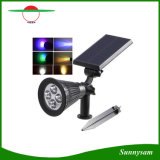 RGB Color Changing Outdoor Solar Garden Spot Lights 4 LED White/ Warm White/ RGB Solar Lawn Landscape Lamp