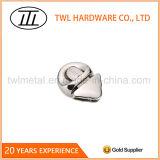 Round+Triangle Silver Color Metal Button Press Handbags Lock