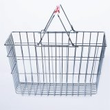 Metal Wire handle Basket for Supermarket