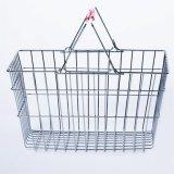 Metal Wire handle Basket for Supermarket