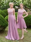 Scoop Neck Lace Zipper-up Floor-Length A-Line Bridesamid Dress (Dream-100056)